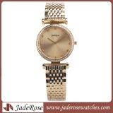 Nuovo orologio elegante classico del lusso dell'acciaio inossidabile del quarzo delle donne unisex
