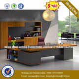 L muebles de oficinas del escritorio de la melamina de la dimensión de una variable de la pierna ejecutiva del metal (HX-8N1003)
