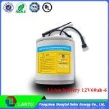 Qualität ursprünglicher 12V 60ah Li-Ionbatterie-Satz für Solars