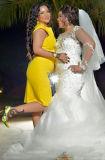Laço feito real Marmaid mais o vestido de casamento do tamanho