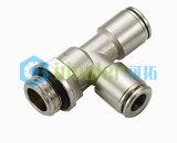Connecteur de corps gris Pousser-dans l'ajustage de précision pneumatique d'ajustage de précision avec du ce (G-PUL5/32)
