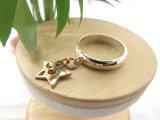 販売のためのプラチナ及び18Kローズの金の星の吊り下げ式の女性の宝石類のリング