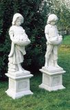 Branca quente esculturas de mármore do sexo feminino no exterior Estátua Jardim Escultura
