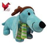 スカーフが付いている現実的な30cm高い詰められたカスタマイズされたプラシ天犬のおもちゃ