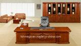 一致の革張りのいすが付いているカスタマイズされたサイズの主任の机の管理の机