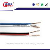 Câble flexible transparent Tc le président, 2 Core isolant en PVC Gold ou Silver câble haut-parleur plat transparent