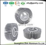 Dissipatore di calore di alluminio dell'espulsione del girasole del materiale da costruzione per il blocco per grafici chiaro del LED