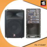 15 Spreker pS-1715mbt van de PA van de Echo van Bluetooth EQ van de FM van de duim 250W USB BR de Plastic Actieve