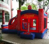 5*3.5*2.5mの工場価格のスパイダーマンの主題の膨脹可能な警備員の家か膨脹可能なジャンプの城