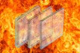 Vidrio resistente al fuego aislado calor ULTRAVIOLETA anti Tempered con el clasificación de 90 minutos