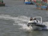Marché de la Chine bateau Marine Liya 24,6 ft bateau en fibre de verre bimoteur