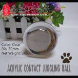 Dsjuggling 80mm de acrílico transparente Póngase en contacto con bolas de malabares Magic Ball