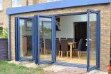 Portello di piegatura di alluminio del blocco per grafici di Foshan con i doppi vetri