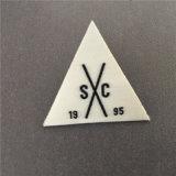 Triángulo de Custom-Made fusión blanco reverso tejió parche