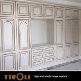 Modular de la moda de calidad de los armarios de cocina de madera armarios de dormitorio clásico TV-0584