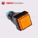 12mm産業設備のためのプラスチックLEDの瞬時の押しボタンスイッチ
