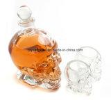 جمجمة واضحة زجاجيّة ناشر زجاجة مع فلّين