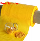 Amarillo Masterbatch con material plástico PE Po