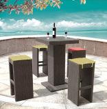 Mobilia di tessitura del patio della resina della mobilia di uso del vimine stabilito esterno della barra