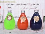 Nova chegada Bonitinha garrafa de bebida de sumo de bebidas de vidro com tampa de alumínio