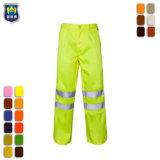 Ciao pantaloni di sicurezza di colore giallo di fluorescenza dei pantaloni di forza