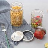サラダパッキングガラスメーソンジャー、デザートのガラス食糧瓶