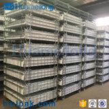 Empilhamento recolhível Cesto de malha metálica para armazenamento de preformas PET
