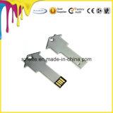 Personalizar la llave de metal Metal forma una unidad flash USB Stick