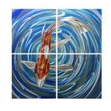 Рыб и дизайн металлической стенки окраска алюминиевых висящих искусства