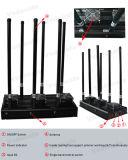 Emittente di disturbo fissa /Blocker, emittente di disturbo per i telefoni mobili, inseguitore di GPS del walkie-talkie, Lojack, Wi-Fi/Bluetooth del segnale del telefono delle cellule di alto potere
