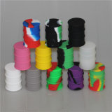 Silicona de colores el hábito de fumar tarro 11ml de aceite de cera del tambor de contenedor de almacenamiento de tabaco de malezas