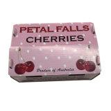 Розовый цвет упаковки из гофрированного картона с логотипом внутри