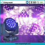 illuminazione capa mobile della fase della discoteca del DJ dell'indicatore luminoso dello zoom LED di 19PCS 15W