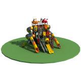 螺線形は冒険公園の魅力の子供の屋外の運動場を滑らせる