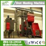 Двигатель на заводе с помощью оборудования гусеничный тип дробеструйная очистка машины