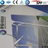 太陽板ガラスアークの緩和されたガラス