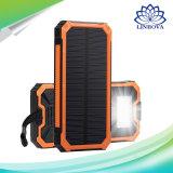 LED de exterior de la luz de emergencia 10000mAh cargador de batería Solar Power Kit banco