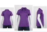 Cheap 100% Polyester Logo personnalisé fast fashion Delivert Vêtements femmes Polo Shirt