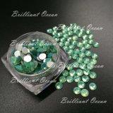 El 16 de la Facet Cortar Opal Flatback Verde Hot Fix Crystal Estrás