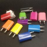 AC adaptador de corriente USB colorido nos de la UE el enchufe del cargador de pared para iPhone 5 4 3G 3GS