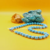 De natuurlijke Turkooise Halsband van de Parels van de Pompoen Stablized
