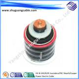 High Voltage & Ehv/XLPE Insulation/PVC Sheath/Copper Electric Power Cable