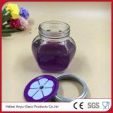 Comercio al por mayor de caramelos personalizados Frasco de vidrio con tapa y la paja