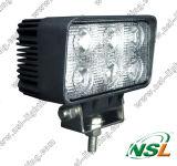 luz de trabajo campo a través del alimentador de la luz 12V 24V del trabajo del carro de 18W LED