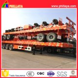 40ton-60ton 3 Axle 40FT Chassis Container Semi-remorque à camion plat