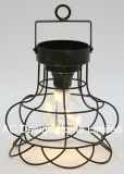 Decorativos antiguos Metal redondo Linterna de camping con LED Bombilla