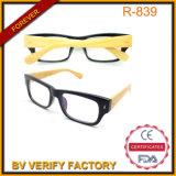 R839 do Braço de bambu com preto para óculos de suprimento da China da estrutura do PC