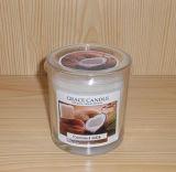 最もよい品質の簡単な様式のガラス蝋燭