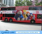 Película de PVC adhesivo para publicidad en autobús