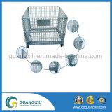 倉庫パレットラックのための折りたたみ金属線の網ロール容器